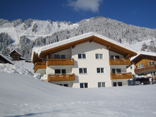 Unser neu gebautes Haus Walser Berge