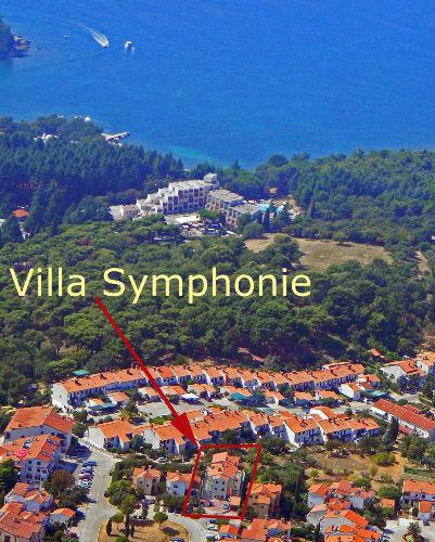 Luftbild - Lageplan Villa Symphonie
