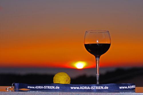 Sonnenuntergang in Porec - Istrien