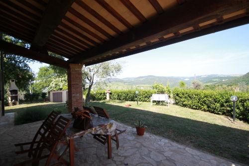 die Terrasse mit schönem Blick