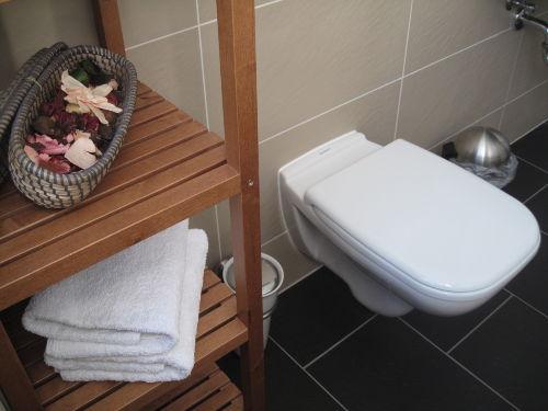 Bad mit WC, Wanne und Dusche