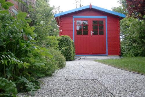 Gartenhaus für Fahrräder