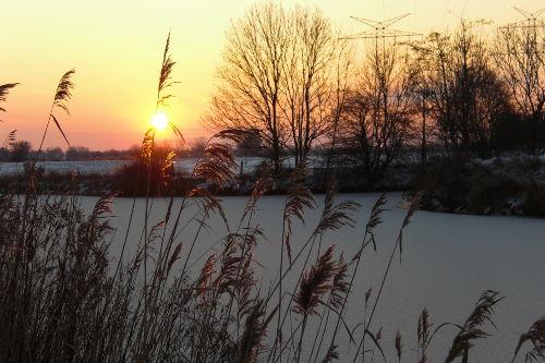 Winterlandschaft an der Maade