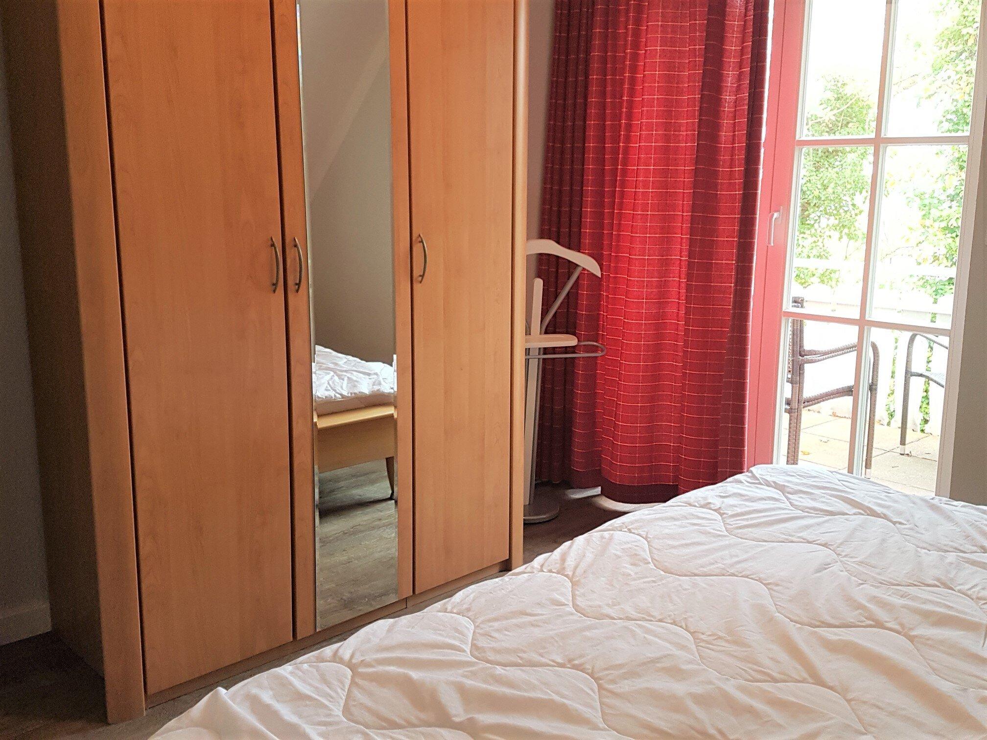 Das geräumige zweite Schlafzimmer