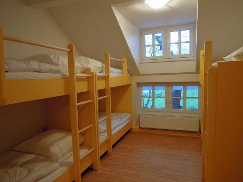 Schlafzimmer im OG für sechs Personen