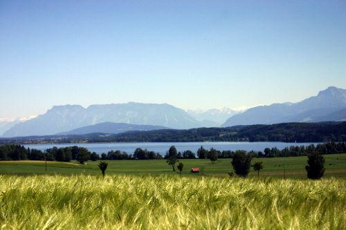 Waginger See mit Untersberg