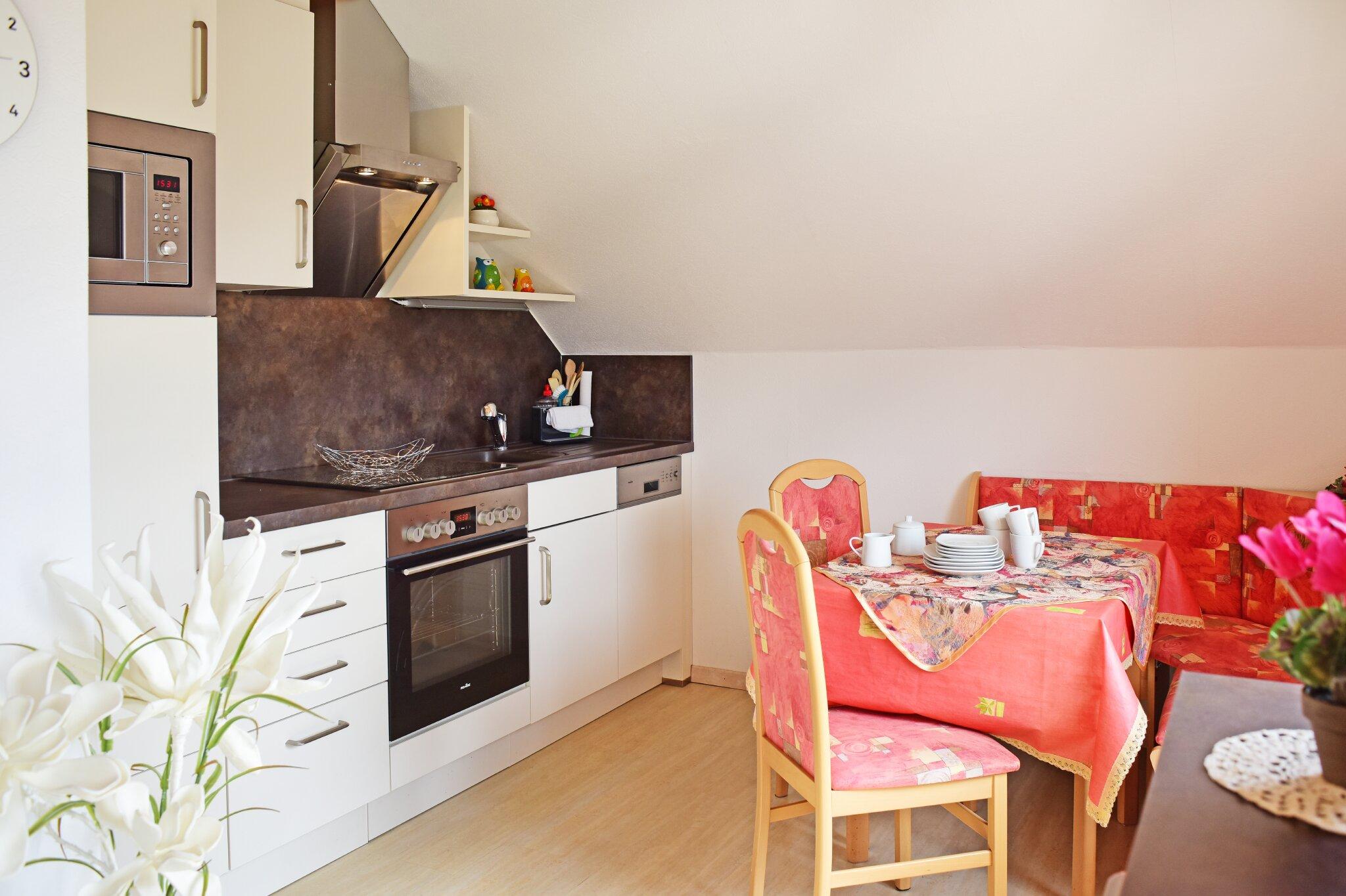 Wohnung 1 Küchenzeile mit Spülmaschine