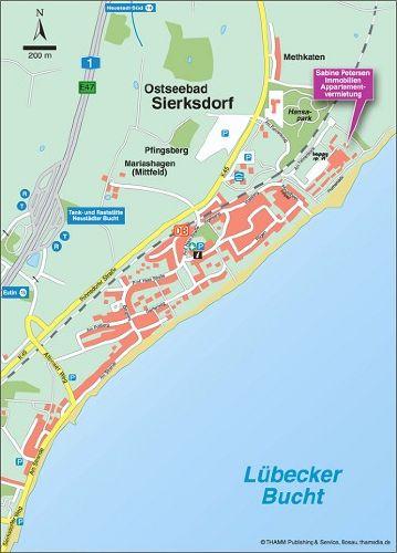 Ortsplan Sierksdorf