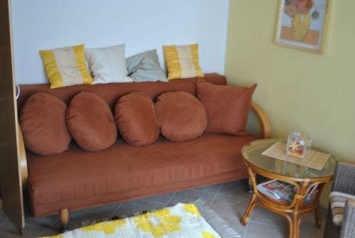 Couch im Wohn-/Schlafraum