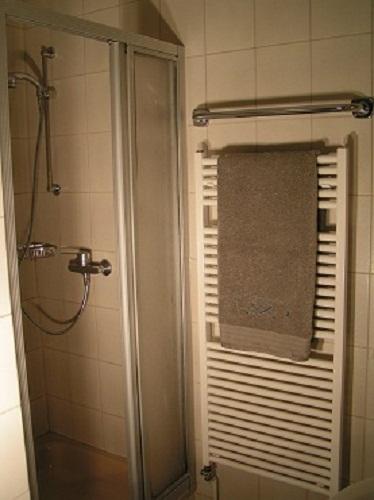 Bad mit Dusche und Handtuchheizung