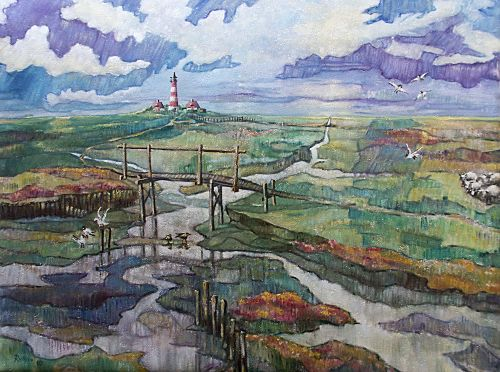 "Gerhard Rubow: ""Ehsten Siel"", Öl"