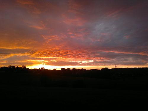 Sonnenuntergang über Grimoldsried