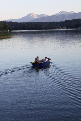 Bootfahren auf dem Waginger See
