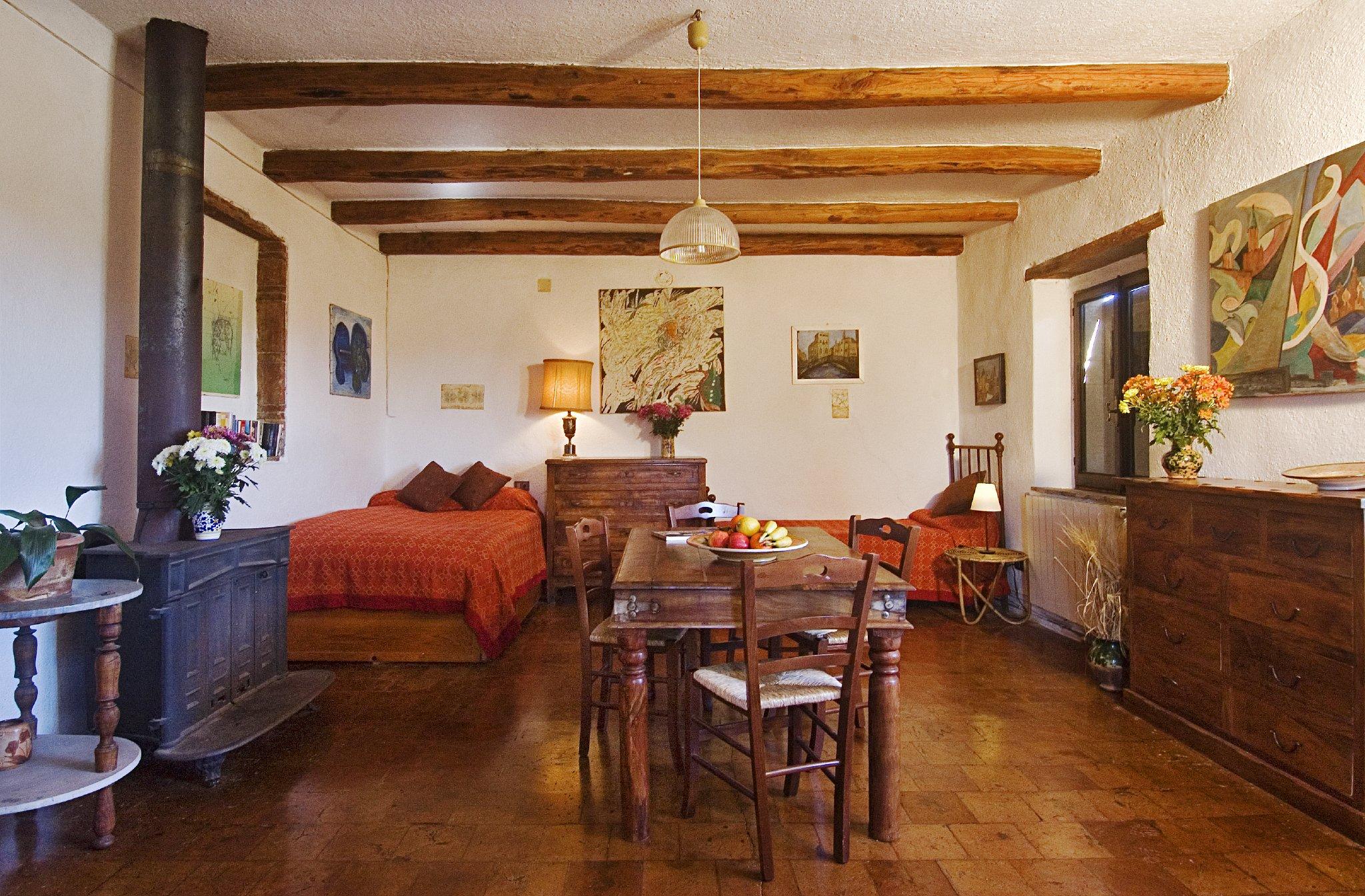 Schlafzimmer mit 4 Einzelbetten
