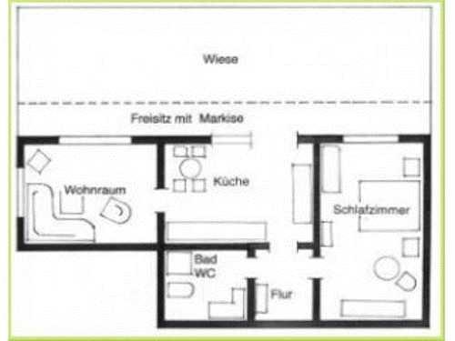 Lageplan Parterre Wohnung