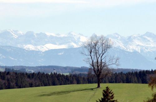 Alpenpanorama im F�nf-Seen-Land