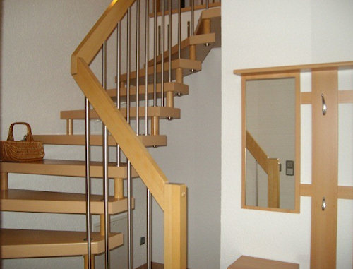 Treppe zur Fewo 2 im Og