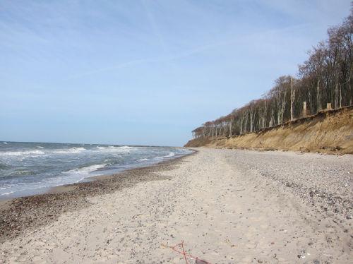 Nienhäger Strand mit Steilküste