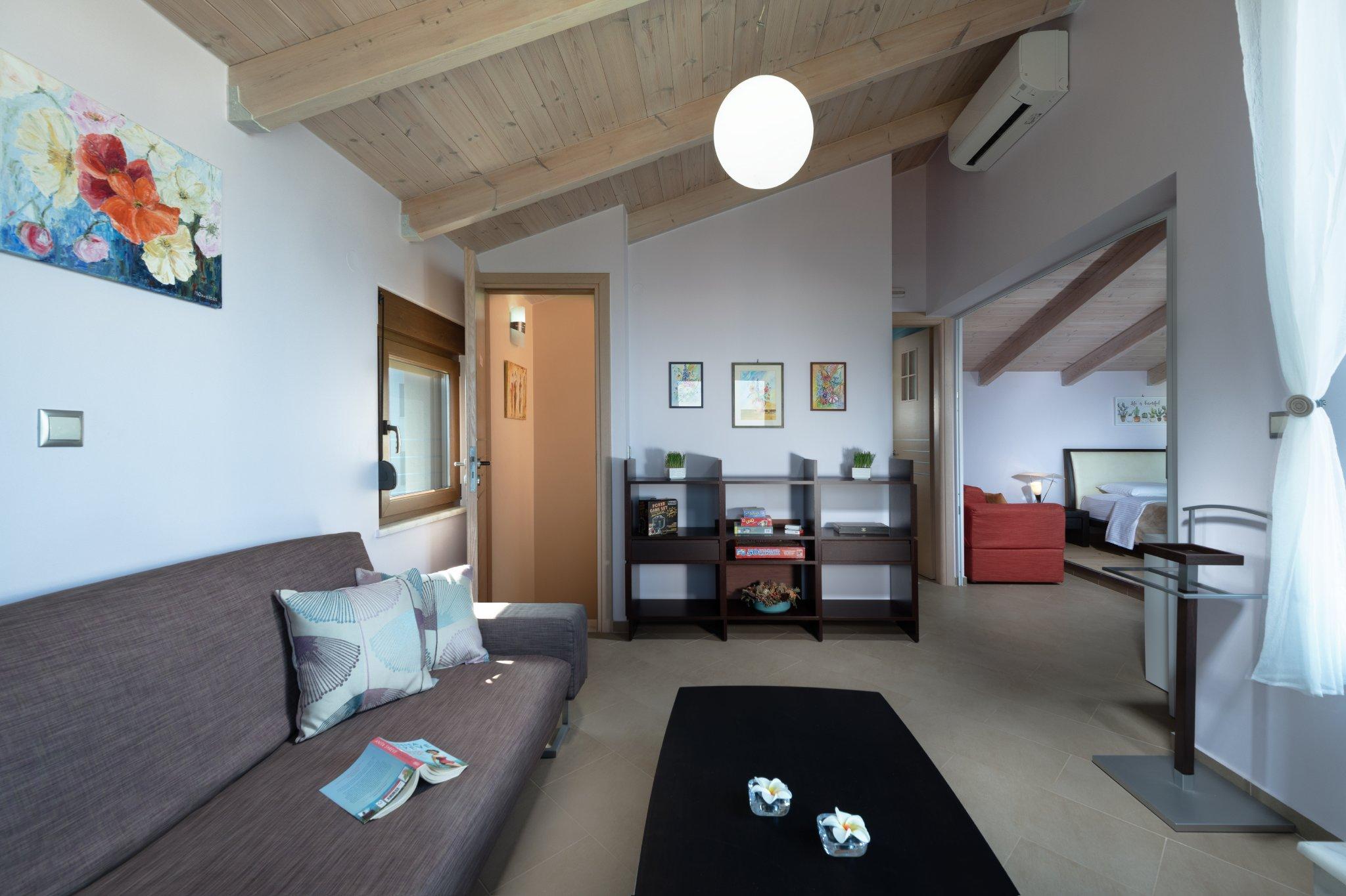 Wohn- und Schlafzimmer obere Etage