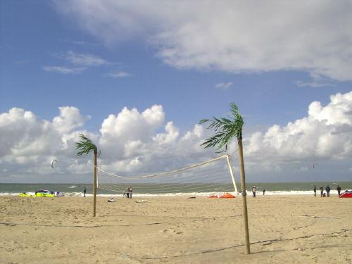 Strandabschnitt für Beachvolleyball