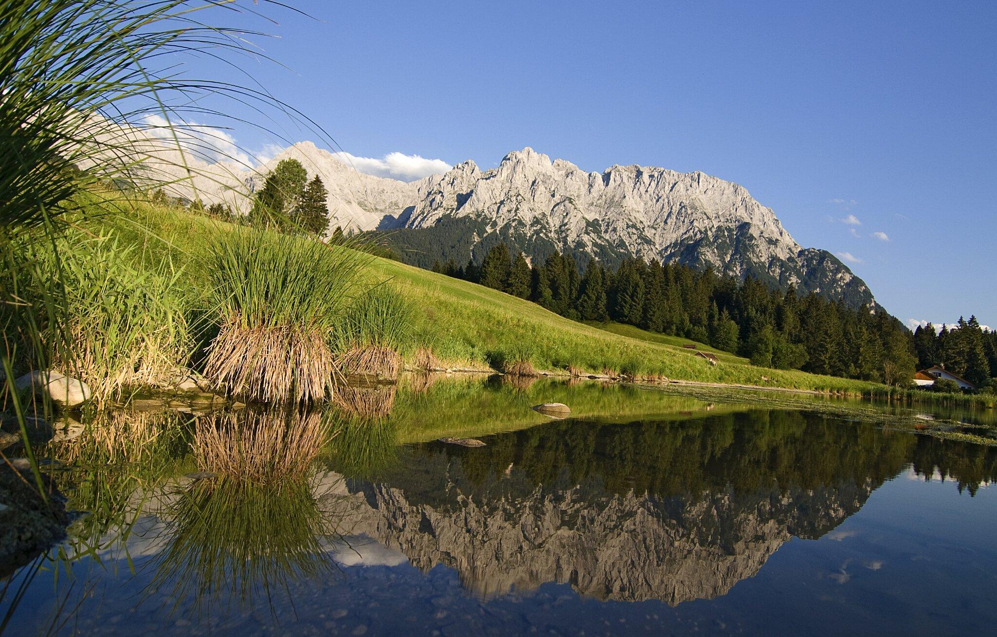 Mittenwald mit Karwendelgebirge