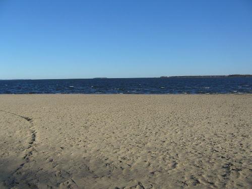 Freester Strand mit Blick auf Usedom