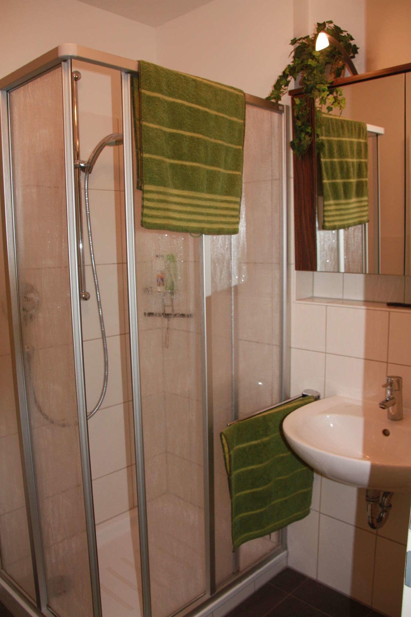 Duschbad mit Spiegelschrank
