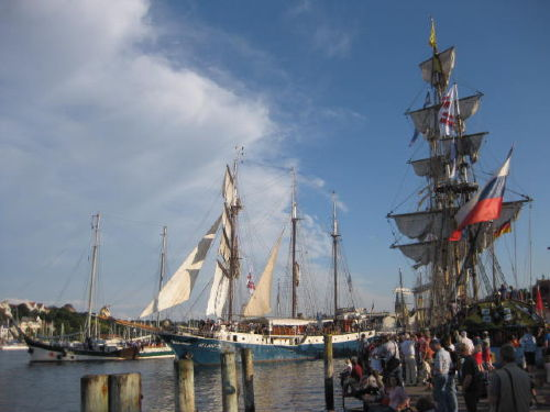 Windjammer im Hafen
