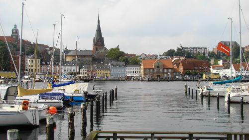 Blick �ber Flensburger Hafen
