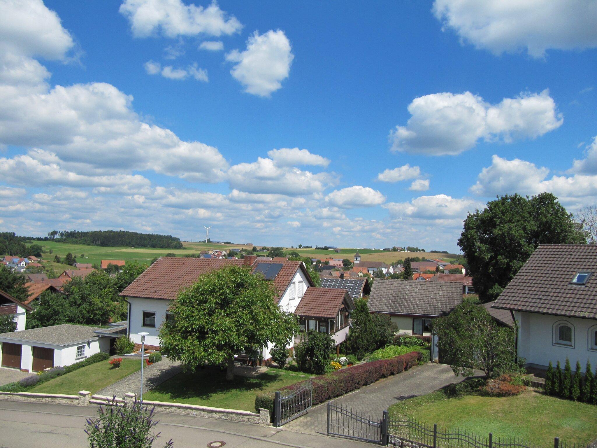 Blick vom Balkon über Leibertingen