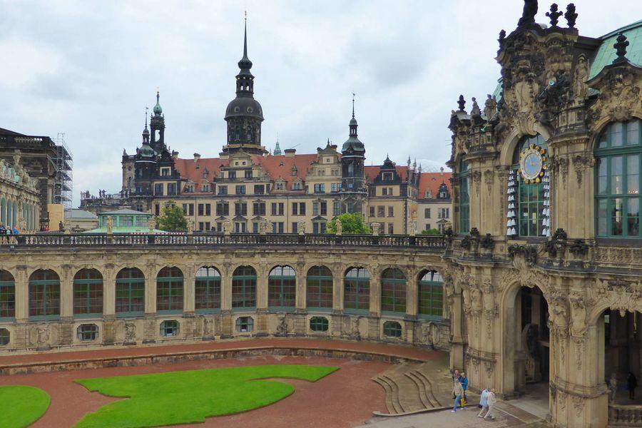 Dresden, Hofkirche u. Schlo�