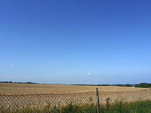 Ausblick im Juli (rechts das Haff)