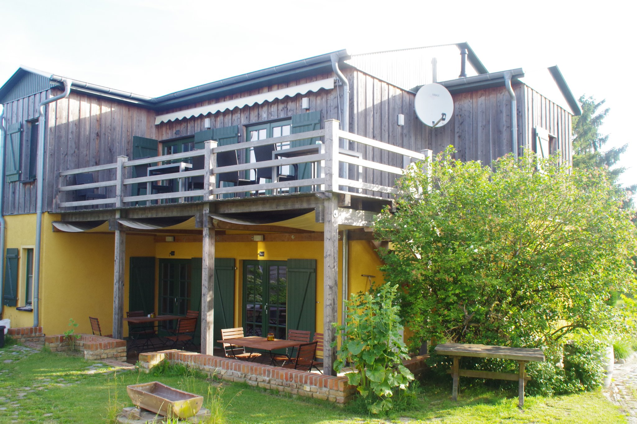 Terrasse mit Nord-Ost-Blick auf´s Haff