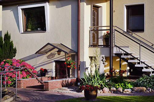 separater Eingang für die Gästewohnung