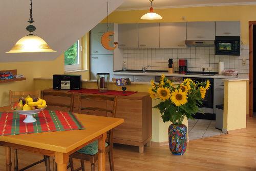 Offene Küche mit Vollausstattung