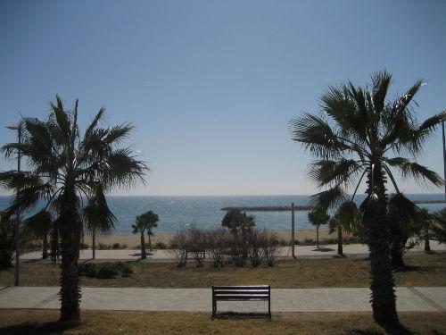 Strandpromenade mit Park