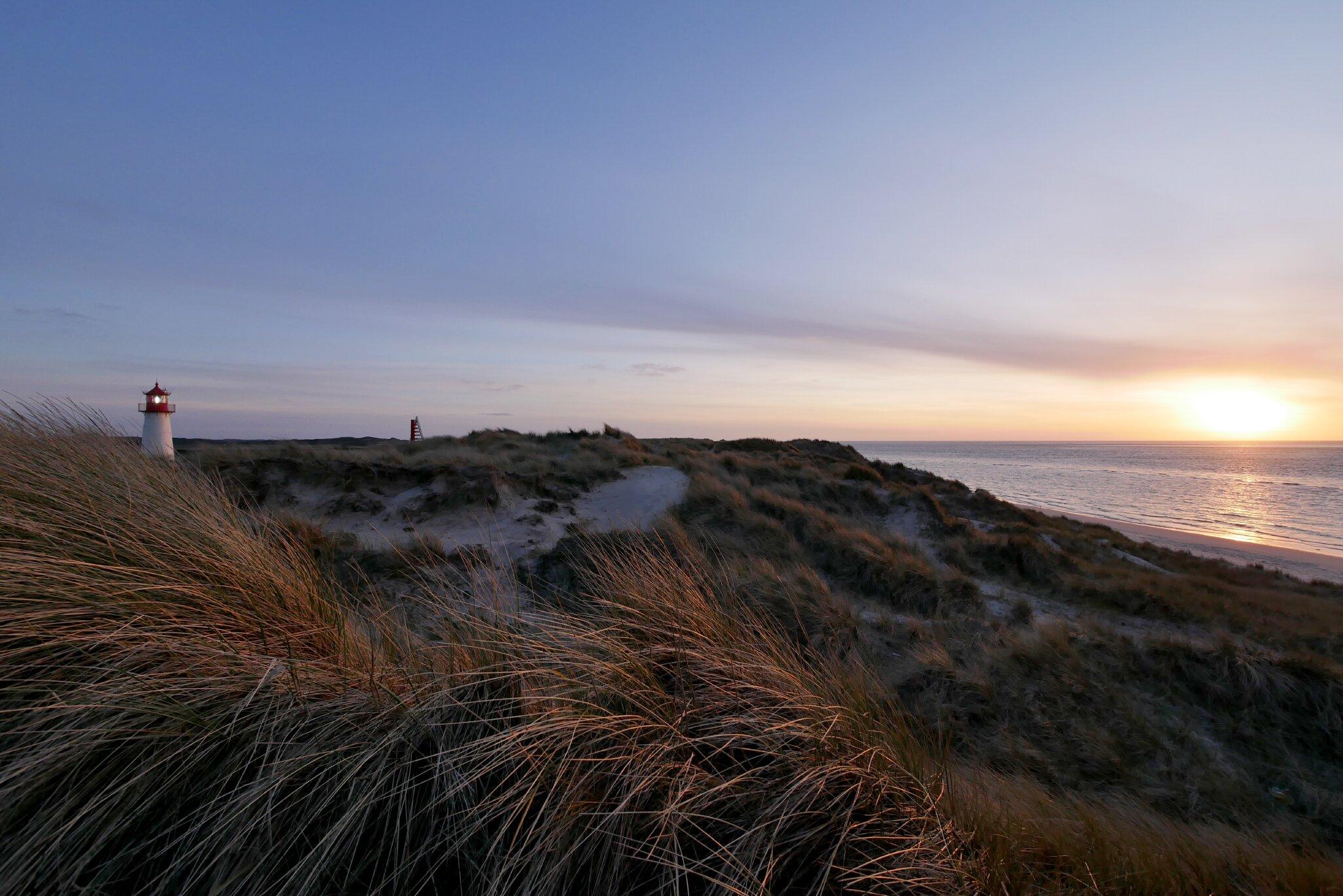 Nordsee bei Sturm im Abendlicht