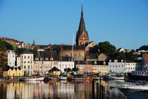 Flenburger Hafen ganz in der Nähe