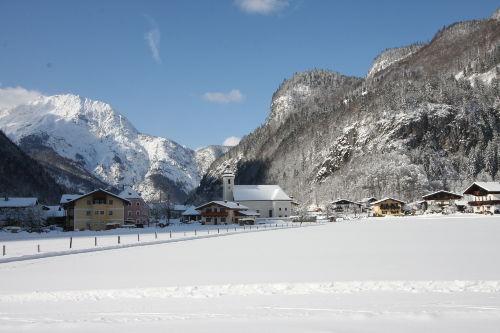 Winterlandschaft in Weißbach