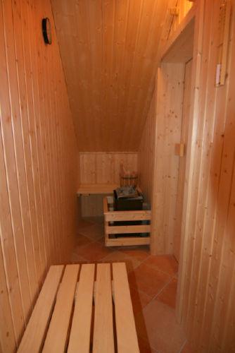kleine Sauna im DG