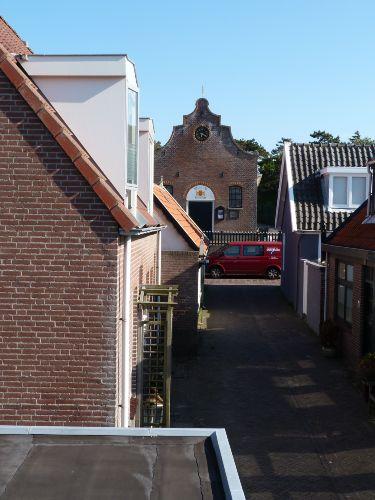 Blick von Dachterrasse auf das Museum