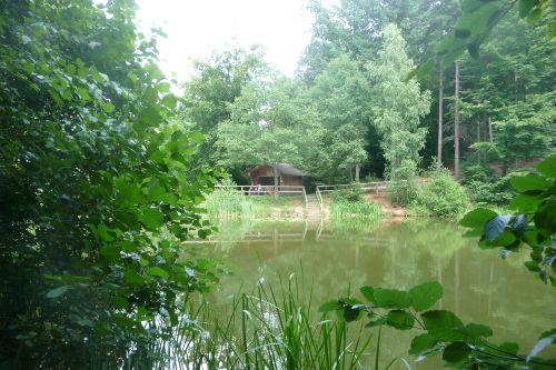 Neunkirchen Reihersee mit Schutzhütte