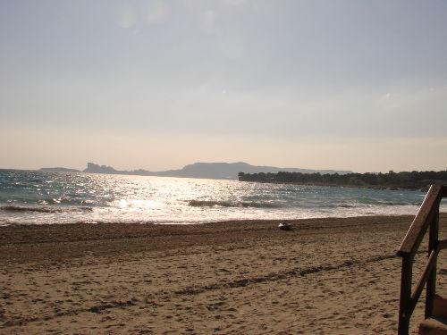 Strand von Saint Cyr sur Mer