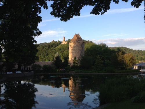 Blick vom Schloßpark Weinheim