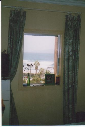 Blick vom Schlafzimmer zum Atlantik
