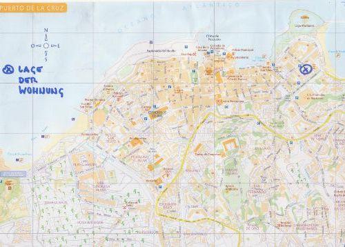 Stadtplan Puerto mit Lage der Wohnung