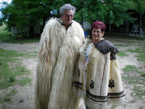 Ehepaar Geiger bei einer Pusta fahrt