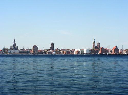 Blick auf Stralsund