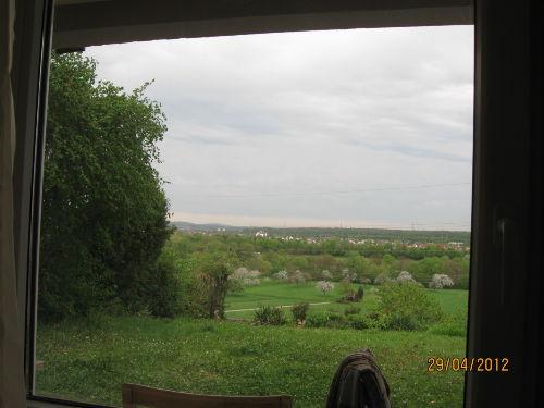 Blick aus dem Wohnzimmer ins Neckartal