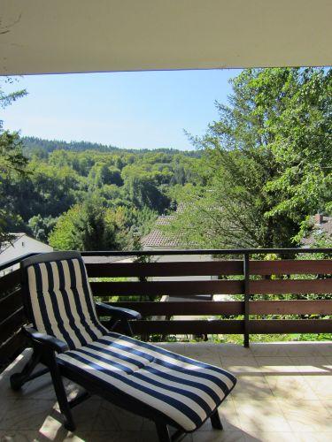 Balkon mit Ausblick auf den Exotenwald